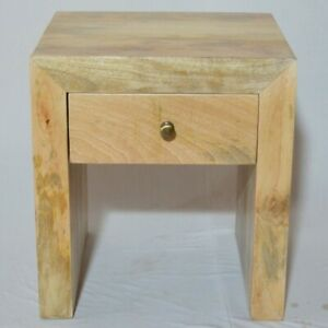 Contemporary Boston Square Mango wood side Table Natural (MADE TO ORDER)