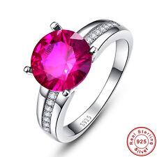 Free Jewelry Box Wedding Women AAA Ruby 925 Steling Silver Ring Size L½ N½ P½ R½