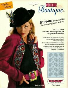 Chic Boutique- Iron On Pattern Guides for Decorating With Beads-Paisley Tapestry
