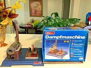 Wilesco  W. German Toy D12 Steam Engine Machine a Vapeur, box good condition