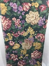 Cranston Home Fashions Large Floral Dark Green Fabric Home Decor 1.5 yards