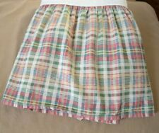 """Chaps Ralph Lauren Wainscott Plaid King Bedskirt Ruffle 15"""" Drop Split Corner"""
