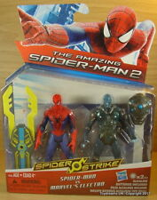 "MARVEL Hasbro THE AMAZING SPIDERMAN 2 & ELECTRO Poseable Figure 3.75"" NEW!"