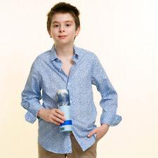 Celino Chicos Mangas Largas Prendas para el torso Azul Camisas de vestir para Casual Hecho en Europa