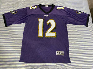 Vinny Testaverde #12 Baltimore Ravens Purple Starter Jersey Mens 4& Large