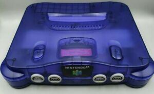N64/Nintendo 64 Konsole - lila/purple transparent + orig. Kabel - funktioniert