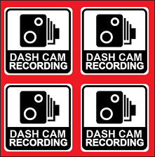 DASH CAM RECORDING/  STICKERS / CCTV VIDEO / WARNING / VINYL / DECALS