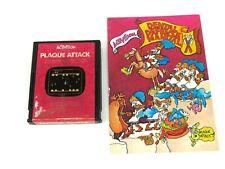 Plaque Attack (Atari 2600, 1983) By Activision (Cartridge & Manual) NTSC