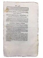 La Beaume 1804 Ivoy Carignan Feuille de Douai Rare Journal du Consulat