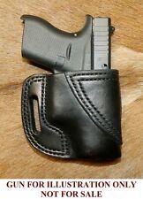 Gary Cs Avenger Owb Holster Fits Glock 42 380 Extra Heavy Leather