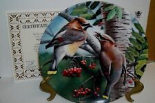 "Birds Of Your Garden ""The Cedar Waxwing"" By Kevin Daniels For Knowles Fine China"