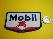 MOBIL OIL UNIFORM CLOTH PATCH CREST SIZE LOOK AND BUY!*