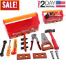 Toddler Toys Tool Set Box Workbench Pretend Play Girl Kids Learning Game Tools #