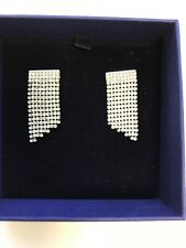 NWT Authentic Swarovski Dangle Earrings Crystal - Art Deco - Pierced