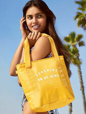 Bnew VICTORIA'S SECRET PINK Cooler Tote Bag, Yellow color