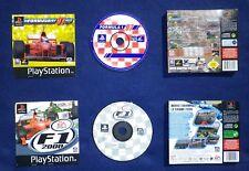 LOT 2 JEUX Sony PLAYSTATION PS1 PS2 : FORMULA 1 97 + F1 2000 (courses auto)
