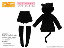 Azone Pure neemo PNS Cute Cat outfit Wear Set Black 1/6 Doll Obitsu Momoko XS S
