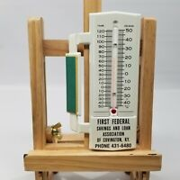 Vintage NOS First Federal Savings and Loan Association Kwik-Grip Thermometer