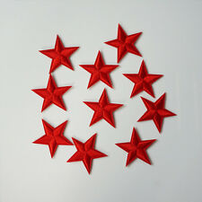 10 x Embroidered Red Star Sew Iron On Patch Badge Bag Hat Jeans Applique Craft