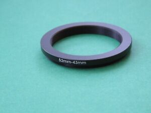 52mm-43mm 52-43 Step Down Male-Female Filter Ring Adapter 52mm-43mm