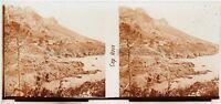 Cap Rosso Massiccio Da L Esterel Francia Placca Lente Stereo 6x13cm Vintage