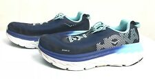 Hoka One One Bondi 5 Blue Runninh Shoes Women US 7.5 D Wide