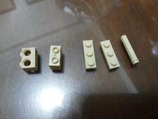 Non-Lego LOT of Bricks - Beige Color 5 pieces - Check Below