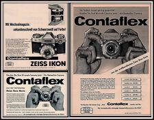 AD LOT OF 3  1958 - 1961 ADS ZEISS IKON CAMERA CONTAFLEX