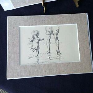 JH Dowd Sketch - Genuine and Original 1930's print - splashing child with adult