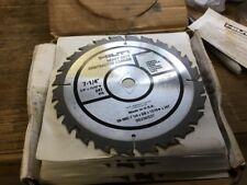 10 Hilti Heavy Duty Carbide Saw Blades 7-1/4 24T