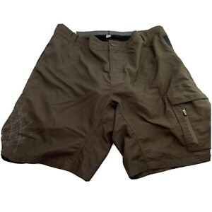 Mens Smartwool Padded Cycling Shorts With Liner Brown Size XL
