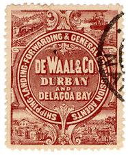 (I.B) South Africa Cinderella : DeWaal & Co Trade Label