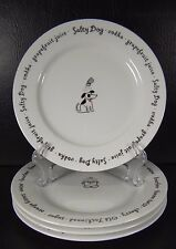 Pottery Barn Bar Lingo Set of 4 Appetizer Plates Salty dog Sea breeze Manhattan