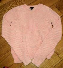pull coton chiné rose H&M taille XS