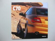 Volvo C70 Coupe prestige brochure Prospekt English text 1997 28 pg