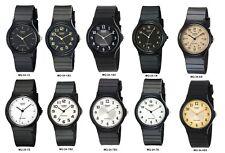 Casio MQ24 Men's Black Resin Band Black White or Gold Dial Casual Analog Watch
