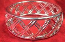 Tiffany & Co Bracelet Palomo Picasso Wide Trellis Bangle Italy 925 Sterling SLVR