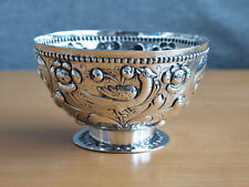 More details for 18c style dutch or german 800 silver repousse brandy bowl, unusual marks, 102g
