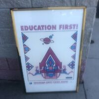 """Peter Max, Education First, Poster apprx 26"""" x 42"""" Education First Vision Award"""