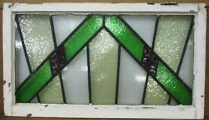 "OLD ENGLISH LEADED STAINED GLASS WINDOW TRANSOM Geometric Burst 32.75"" x 18.75"""