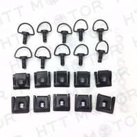 10 Dzus Style Motorcycle Quick Release 1/4 Turn Fairing Fasteners with 15mm Pins