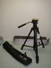 """TAKAMA TAK-V3300 66"""" 3 SECTION VIDEO TRIPOD WITH FLUID HEAD AND CASE"""