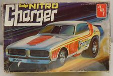Vintage AMT Dodge Nitro Charger Funny Car Drag Model T179-225 BOX ONLY
