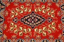 Cir 1930's ANTIQUE KORK WOOL_HIGH KPSI PERSIAN KASHAN RUG 2.5x3.3 GRAPE LEAVES