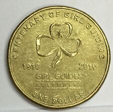 Australia 2010 A$1 century of girl guides  Coin very high grade !