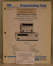 HP6030A, 6031A, 6032A, 6033A & 6038A System Power Supplies Programming Notes