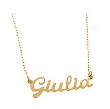 Collana Facco Gioielli con nome piccolo personalizzabile in oro