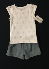 New/Tags 6 Month Carter's Baby Girl's 100% Cotton 2-Piece Short's Outfit