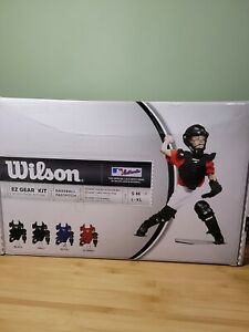 Wilson EZ Gear Baseball Fastpitch Youth Catcher's Kit Sm-Med, Helmet Chest, Legs