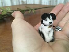 Cute OOAK Mini Jointed Dog Spotted Terrier